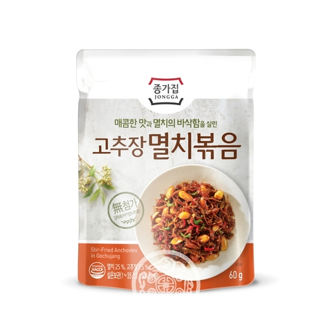 Закуска Обжаренные анчоусы  с орехом и с перцовой пастой 60г Daesang Корея