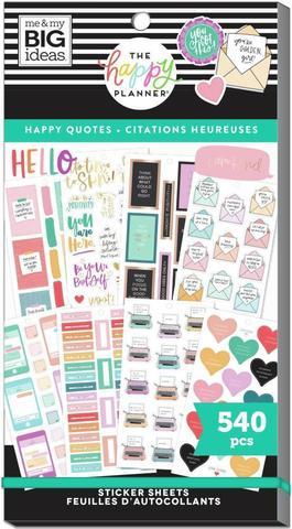 Блокнот со стикерами для ежедневника  Value Pack Stickers - Happy & Positive Quotes -540шт
