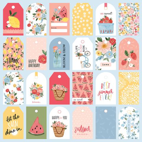 Лист двухсторонней бумаги Carta Bella - SUMMER - So Sweet Tags - 30x30