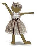 Платье летнее - Демонстрационный образец. Одежда для кукол, пупсов и мягких игрушек.
