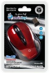 Мышь беспроводная беззвучная SBM-612AG-RK LED красный Smartbuy