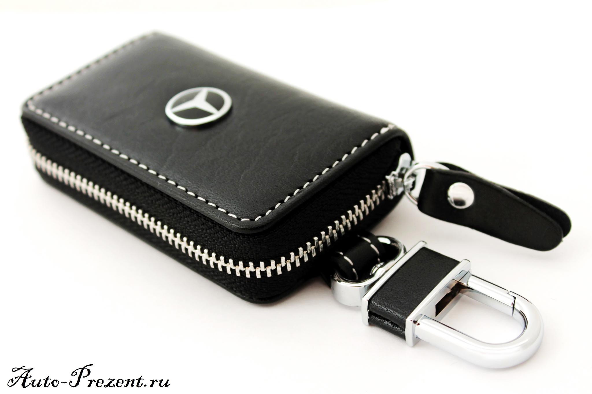 Кожаный чехол для ключа с логотипом MERCEDES-BENZ