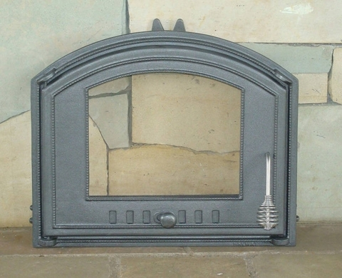 Дверца со стеклом левая DCHS3 H1205