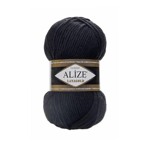 Пряжа Alize Lanagold 60 черный