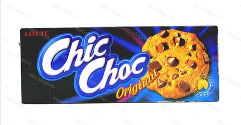 Печенье песочное с шоколадной крошкой LOTTE Chic Choc Original, Корея, 90 гр.