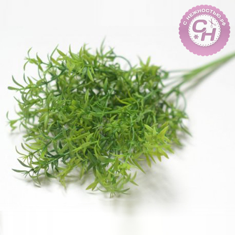 Искусственная зелень Аспарагус, букет 5 веток, 33 см.