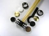 Молоток ювелирный со сменными (5 типов) рабочими поверхностями 25 см