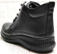 Осенние женские ботинки кеды черные Evromoda 535-2010 S.A. Black.