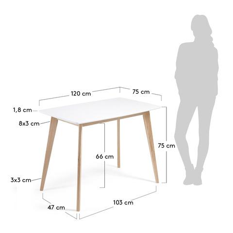Стол Unit 120x75 белый