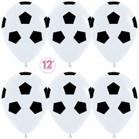 Воздушные шары футбол белые