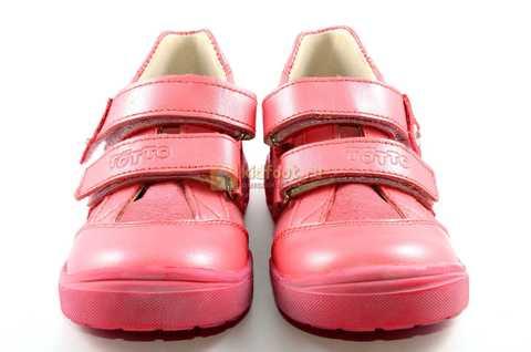 Ботинки Тотто из натуральной кожи на липучках демисезонные для девочек, цвет розовый. Изображение 5 из 12.