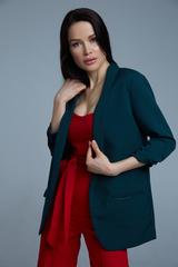 темно-зеленый пиджак женский купить