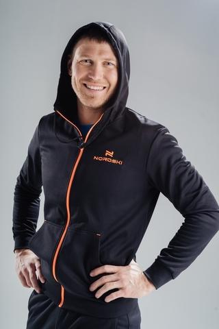 Толстовка Nordski Hood Black/Orange мужская