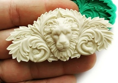 Д0578 Пластиковый декор. Голова льва. Размер 7х3,5 см.