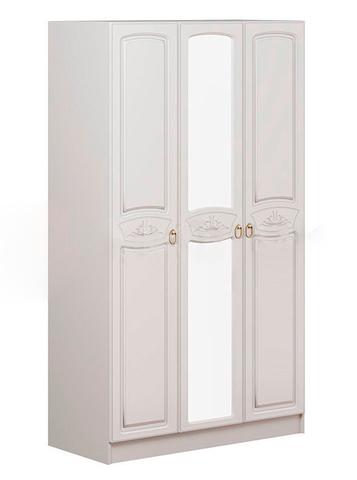 Шкаф Александрина 3-х ств. белый глянец