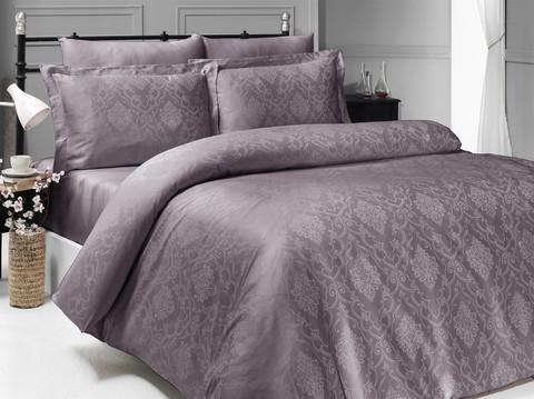 Комплект постельного белья DO&CO Сатин  жаккард DEDRIA 2 спальный (Евро) цвет сиреневый