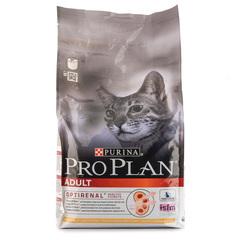 Корм сухой для взрослых кошек Pro Plan с курицей 1,5кг