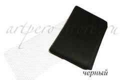 Вуаль шляпная Экстра, ширина 22 см., черный
