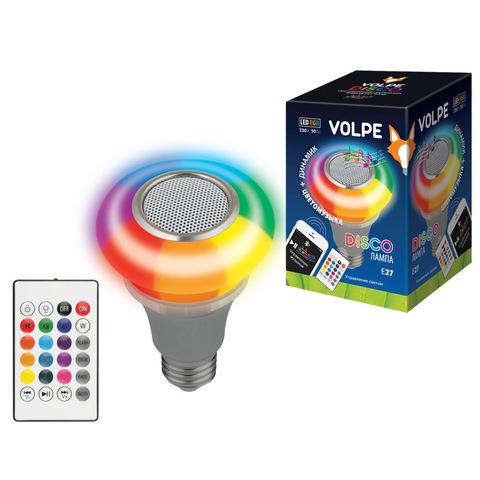 ULI-Q340 5W/RGB/E27 SILVER Светодиодный светильник Диско, с динамиком и Bluetooth. 220В. Серебристый. ТМ Volpe.