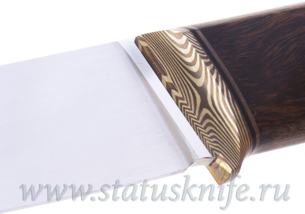 Нож авторский S125VN Мокуме ironwood 120 мм - фотография