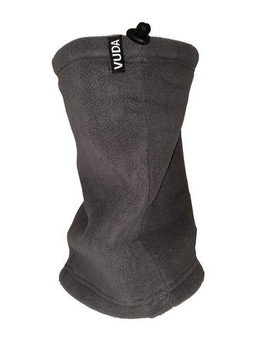 Снуд- шарф флисовый с затяжкой средне-серый
