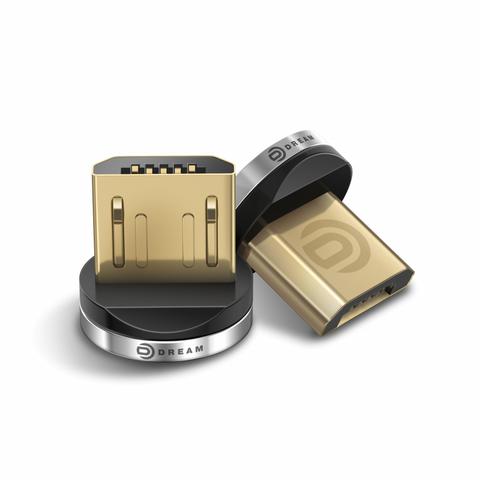 Коннектор MicroUSB (для магнитного кабеля) серебро