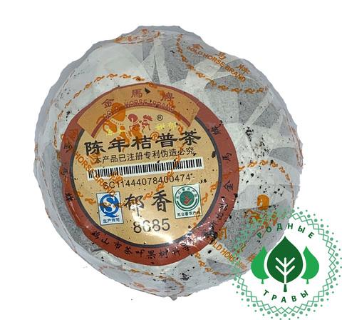 Элитный чай Пуэр прессованный в мандарине Шу Юннань