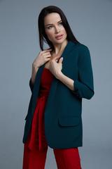 темно-зеленый пиджак женский nadya