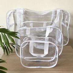 Прозрачная сумка в роддом с 2 косметичками, белая, вид 3