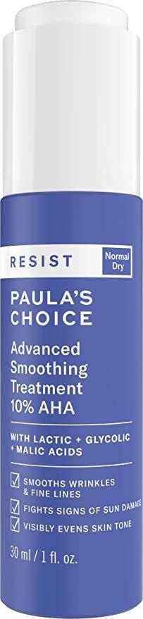Paula's Choice RESIST Advanced Smoothing Treatment 10% AHA пилинг с кислотами 30мл