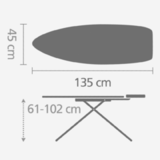 Гладильная доска 135 Х 45 см, артикул 345784, производитель - Brabantia, фото 3