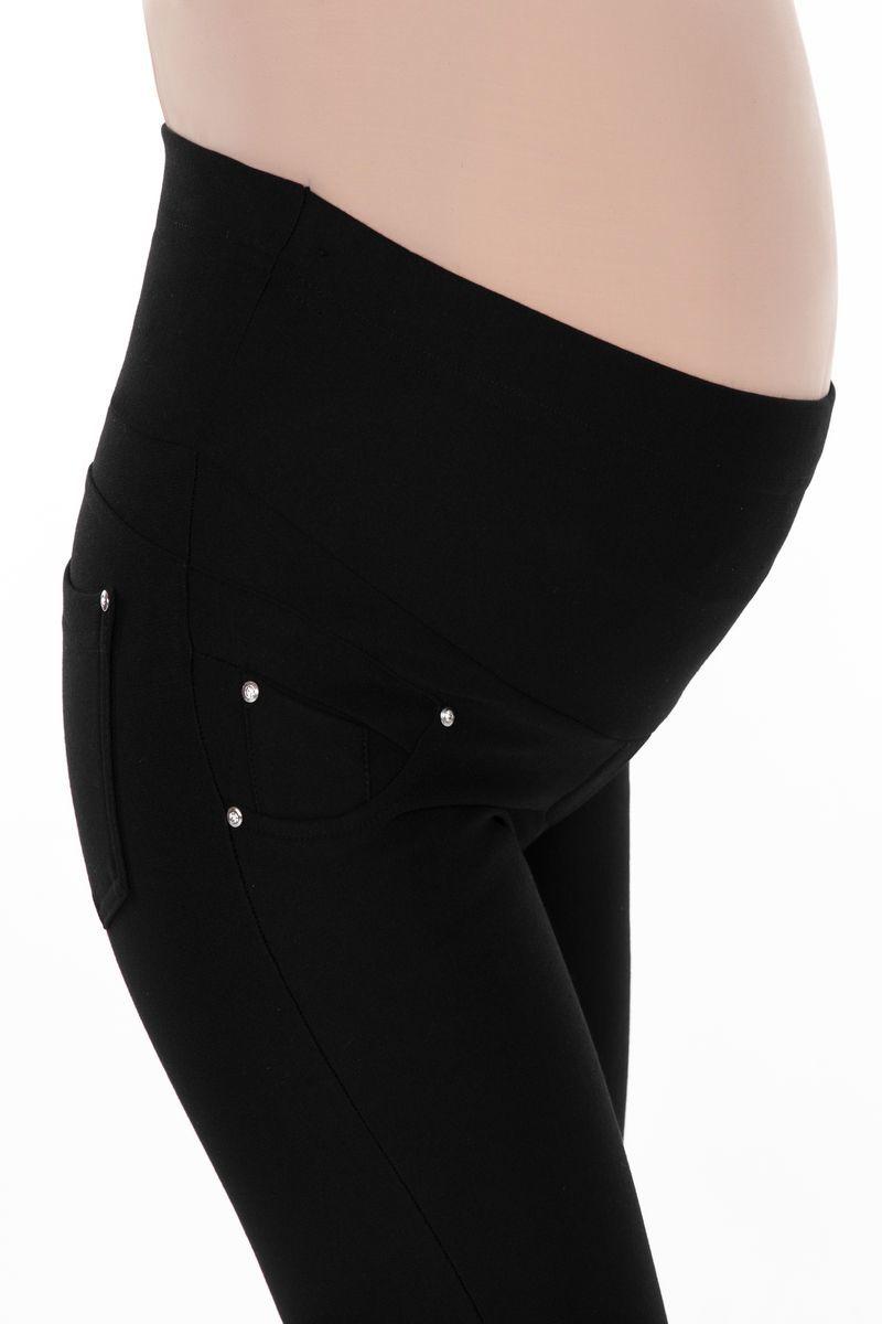 Утепленные леггинсы для беременных 05014 черный