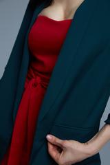 темно-зеленый пиджак женский недорого