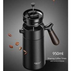 Двойная стенка и крышка с вакуумной изоляцией сохранят температуру кофе