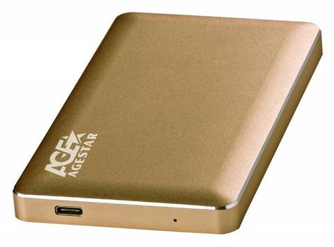 Внешний корпус для HDD AgeStar 3UB2A16C SATA алюминий золотистый 2.5