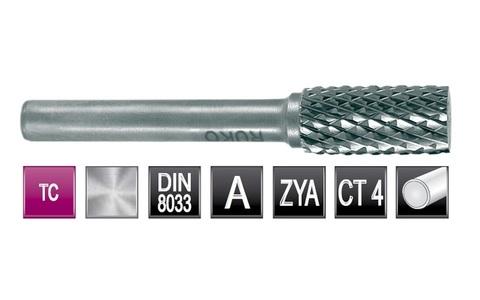 Бор-фреза твердосплавная A(ZYA) 8,0х18х6х60мм HM Ruko 116011 (В)