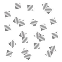 Конфетти металлизированное, Квадрат, Серебро,10*10мм, / 100г. /