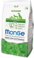 Monge Speciality Line Adult Dog All Breeds Rabbit, Rice&Potatoes
