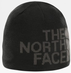 Шапка двухсторонняя The North Face Reversible Tnf Banner Beanie черный/серый