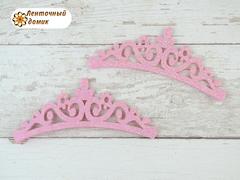 Заготовка Корона цветочная перфорация светло-розовая