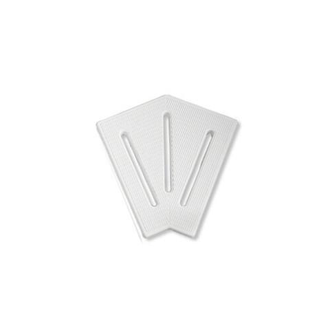 Угловой элемент AquaViva KK-25-2 Classic для переливной решетки 45° 245/25 мм (белый) / 22757