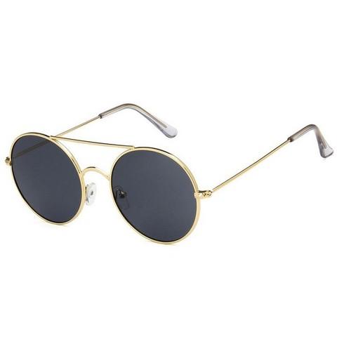 Солнцезащитные очки 3555006s Черный с золотой оправой - фото