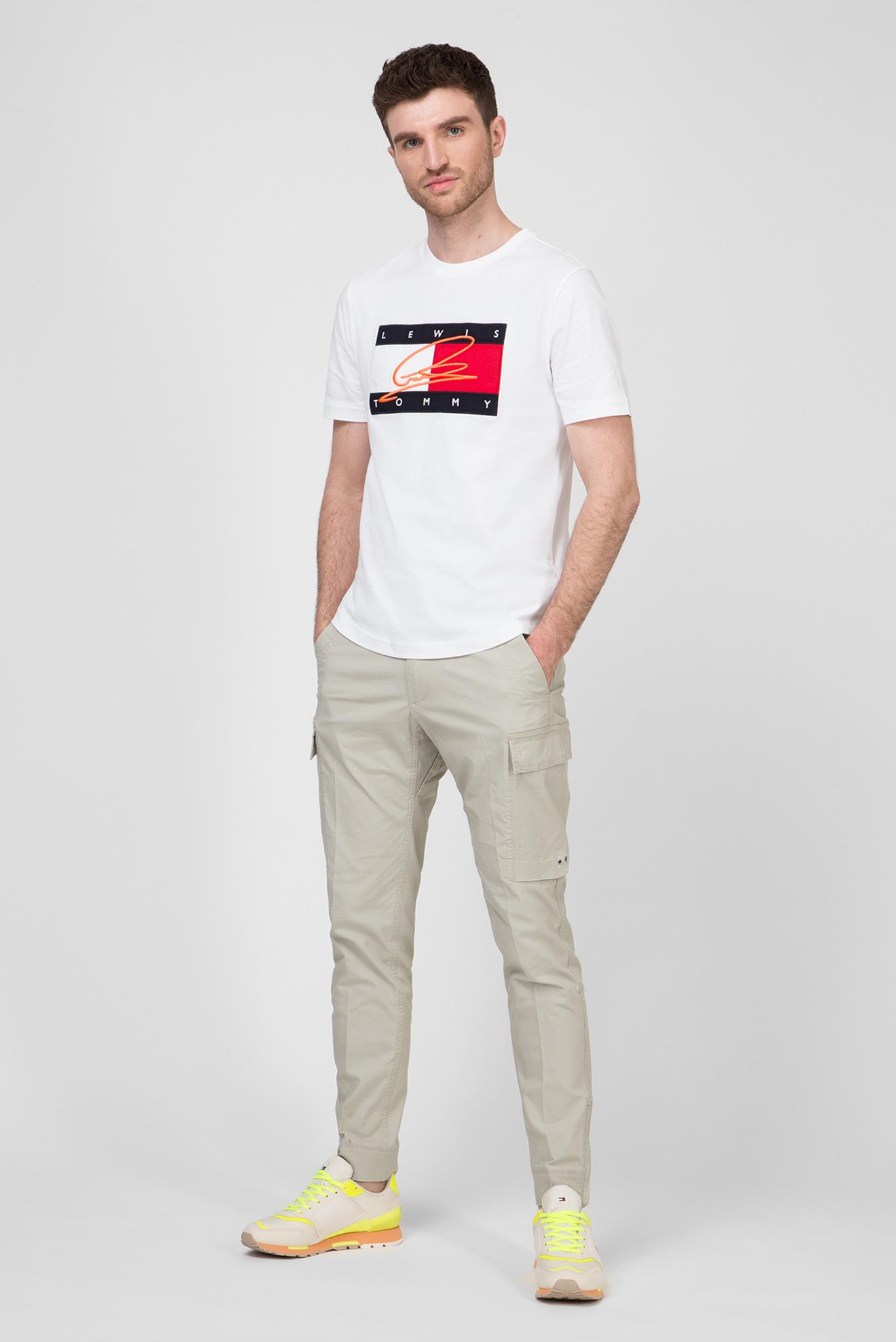 Мужская белая футболка Lewis Hamilton SIGNATURE RWB LOGO Tommy Hilfiger