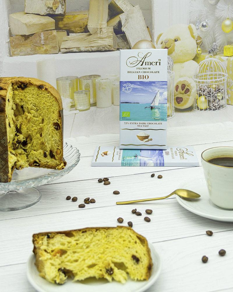 Экстра Горький Шоколад Ameri 72 % Какао с Морской Солью БИО 100 гр.