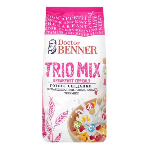 Готовый завтрак DOCTOR BENNER Trio Mix Малина Ваниль Банан 150 г УКРАИНА