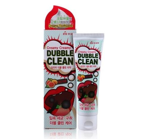 Зубная паста «Mukunghwa» Кремовая зубная паста с очищающими пузырьками и экстрактом красного грейпфрута