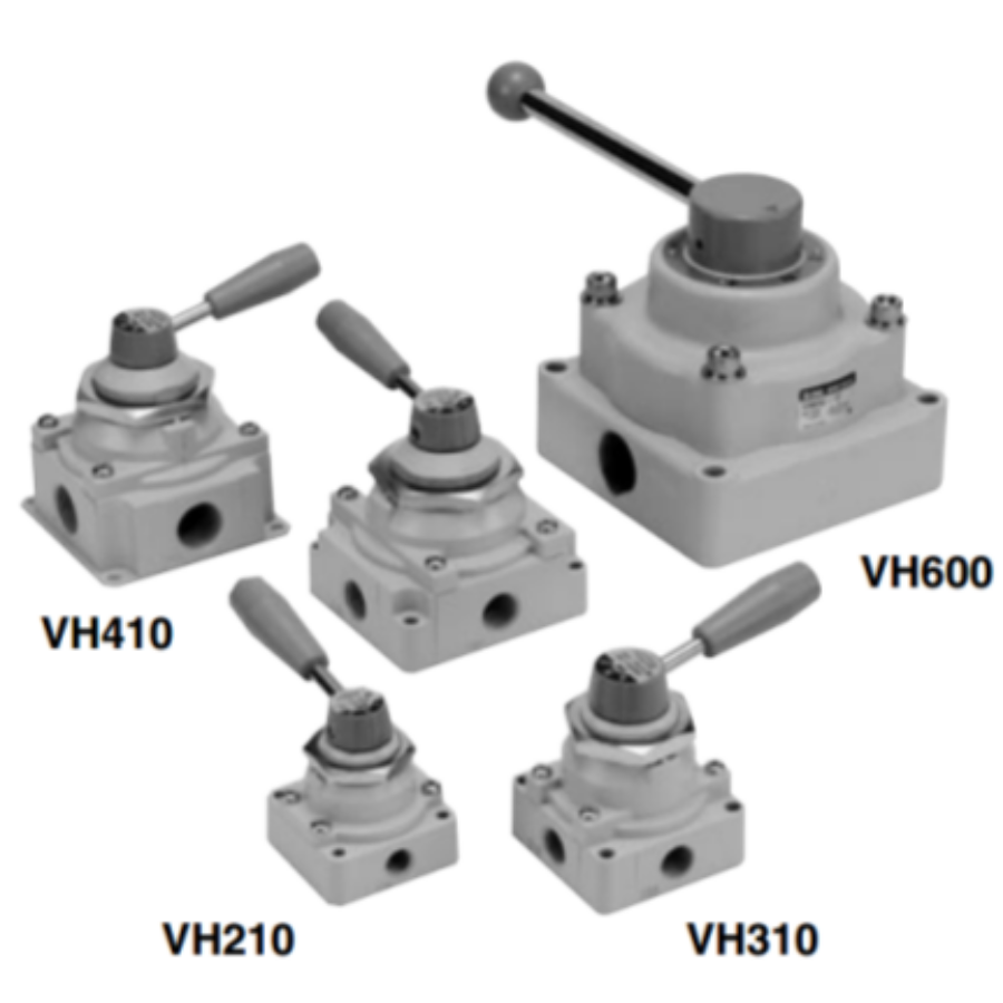 VH300-F02  4/3-Пневмораспределитель с ручным управ ...