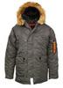 Куртка Аляска  N-3B  Nord Storm Husky Apolloget 2019 (серый - r.grey/orange)