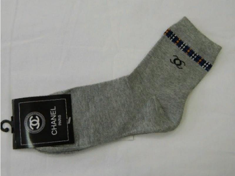 Мужские носки серые CHANEL