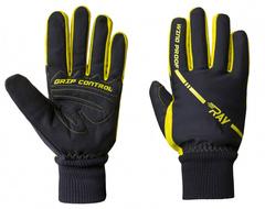 Теплые лыжные перчатки Ray Arctic Black-Yellow